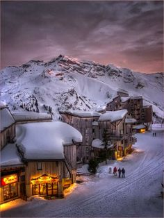 Trois Vallées, The French Alps. It looks like a magical Christmas land. I want to go!