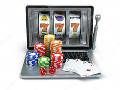 online concept gambling Laptop slot machine with dice a by maxxyustas Casino online concept gambling Laptop slot machine with dice and cards online concept gambl.