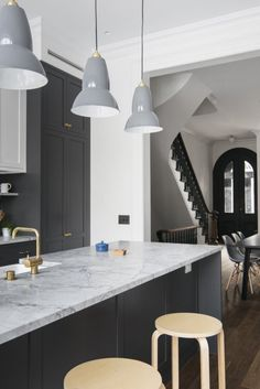 Interior Design Ideas: Elizabeth Roberts Architecture Upgraded A Narrow  Park Slope Townhouse With An Open Kitchen, New Wall Of Windows And  High Style Baths.