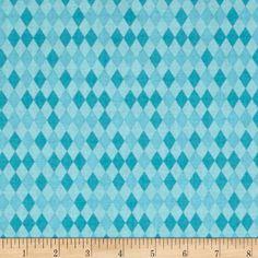 Bailey Harlequin Blue - Discount Designer Fabric - Fabric.com