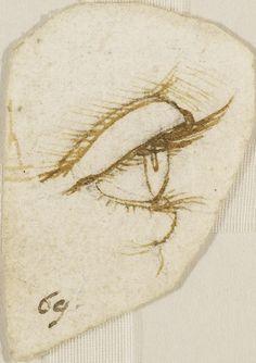 Leonardo da Vinci - Renaissance - Study - An eye in profile.