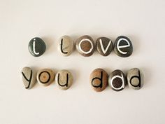 Father's Day Gift Idea 11 Magnets Letters Custom by HappyEmotions, $16.50