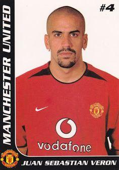 Juan Sebastian Veron Play Maker, Good Soccer Players, Player Card, Manchester United, Trading Cards, Polo Ralph Lauren, The Unit, Football, Mens Tops
