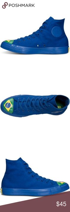 Converse women's blue Brazil shoes Chuck Taylor's New without box Converse Shoes Sneakers