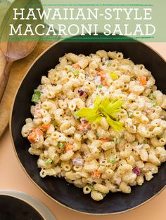 Hawaiian Style Macaroni Salad recipe. Had this in HI and it was the best salad ever!