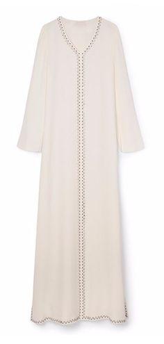 Tory Burch Embellished Silk Caftan