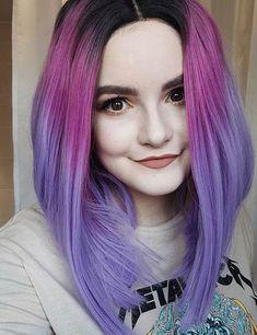Beautiful Pastel Purple Ombre Hair Color - Vibrant Ombre Hair Ideas