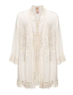 Lightweight lace cover-up in Ivory-White designed by Johnny Was to find in Category Jackets at navabi.de