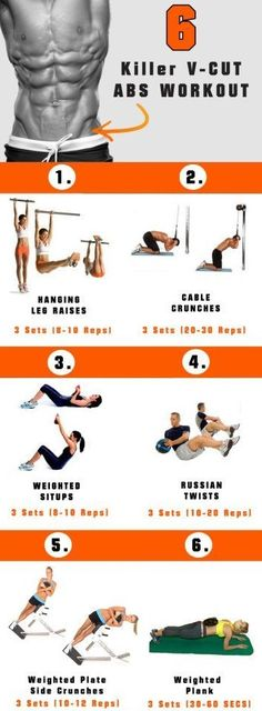 "6-KILLER V-cut Abs WORKOUT Hi Everyone ! Everyone's dream to have V-cut Abs, today i will give you the world best "" 6-Ki..."