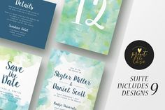 Wedding Invitation Suite - Skyler by Print The Love Boutique on @creativemarket