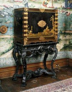 Paravent 6 panneaux laqu s paravent chinois laqu s for Restauration meuble japonais
