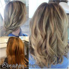 Corrective color. Balayage. Blonde.