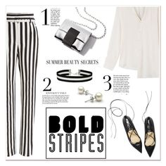 """""""Striped Pants"""" by ladydzsen ❤ liked on Polyvore featuring Dolce&Gabbana, Maison Margiela, Miss Selfridge, stripedpants and BoldStripes"""