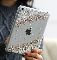 Handmade Bling ipad mini case with Swarovski Crystals. #sparklethat  #Swarovski #ipadcase