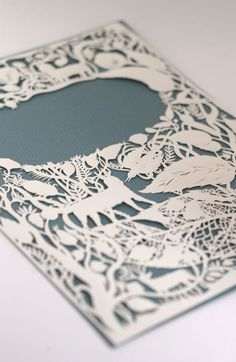 Sigh...beautiful and delicate.... paper cutting illustration by Elsita Mora
