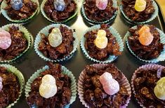 Easter Nests with Jelly Baby Chicks on top - Adventures with J