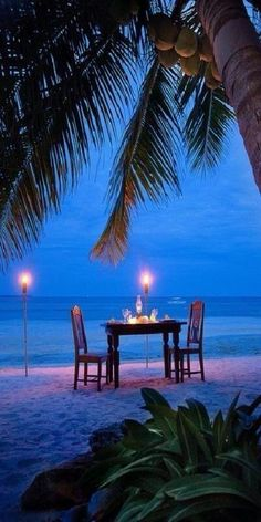 Romantic candlelight dinner on the beach Phuket, Dream Vacations, Vacation Spots, Tropical Vacations, Vacation Rentals, Romantic Places, Romantic Beach, Romantic Table, Romantic Night