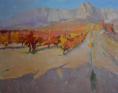 "Saatchi Art Artist Shandor Alexander; Painting, ""Crimean vineyards"" #art"