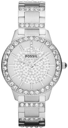 #Fossil #Watch , Fossil Jesse Crystal Stainless Steel Ladies Watch ES3097...$109.00