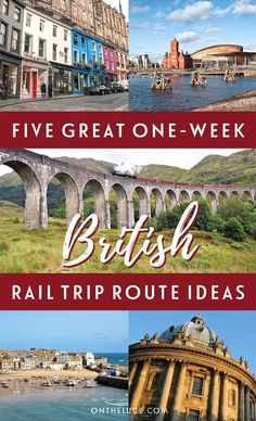 Britain by train: Five great one-week UK rail trip routes – On the Luce travel blog Top Travel Destinations, Europe Travel Tips, Travel Guides, Travel Uk, Travel England, Travel Deals, Budget Travel, Sweden Travel, Shopping Travel