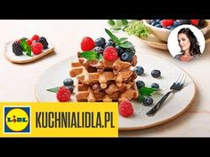 WEGAŃSKIE GOFRY 🌿 | Kinga Paruzel & Kuchnia Lidla - YouTube Lidl, Waffles, Breakfast, Youtube, Food, Morning Coffee, Essen, Waffle, Meals