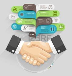 Бизнес рукопожатие и пузырь стиль речи шаблон.  Векторная иллюстрация.  может быть использован для размещения рабочих процессов, диаграммы, варианты количество, активизировать параметры, веб-дизайн, шаблоны баннер, инфографики.  Фото