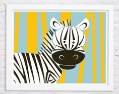 Zebra-Pink nursery original art print perfect for a little girls room. Makes a great gift for baby showers, birthdays and/or return gifts.    Sizes: