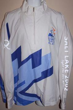 Winter Olympics 2002 Salt Lake City Official Torch Relay Jacket Marker XL RARE!! #Marker
