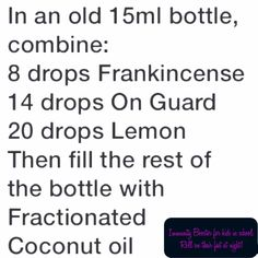 Roller bottle recipe for immunity boost for the kids! Just roll on their feet at night!
