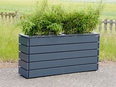 A Little Bit of This, That, and Everything Diy Planters Outdoor, Raised Garden Planters, Trough Planters, Wood Planters, Garden Pots, Outdoor Decor, Front Garden Entrance, Front Flower Beds, Terrace Decor