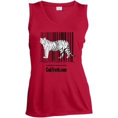Just added this new No Tiger Should B... Check it out! http://catrescue.myshopify.com/products/no-tiger-should-be-treated-like-a-number-ladies-sleeveless-moisture-absorbing-v-neck?utm_campaign=social_autopilot&utm_source=pin&utm_medium=pin