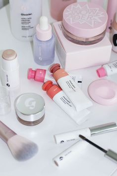 The Glossier Beauty Bible. aesthetic makeup The Glossier Beauty Bible - Lily Like Glossy Makeup, Skin Makeup, Beauty Bible, Makeup Brands, Makeup Products, Face Skin Care, Aesthetic Makeup, Cute Makeup, Makeup Organization