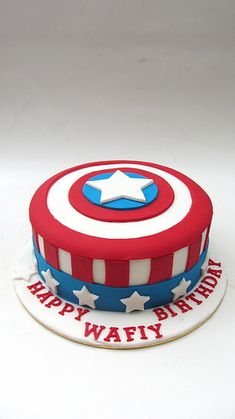 Cake Captain America Pinterest : 1000+ ideas about Captain America Cake on Pinterest ...