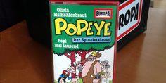 In den Achtzigern vertonte EUROPA sechs Hörspiele mit dem Spinatmatrosen Popeye. Wir besprechen Folge 5: Olivia als Höhlenbraut / Popi mal tausend.