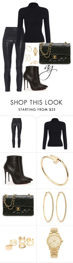 """Untitled #140"" by styledbymissy ❤ liked on Polyvore featuring Yves Saint Laurent, Christian Louboutin, Cartier, Chanel, Roberta Chiarella and Michael Kors"