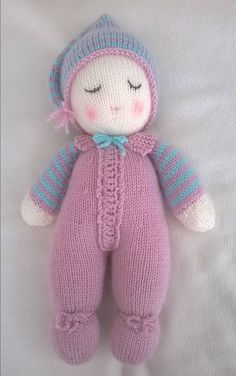 Hand Knitted Baby Dumpling Doll by DreamDollies on Etsy