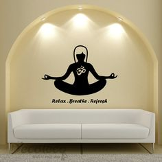 Yoga Om Meditation vinyl wall decal - for my home gym