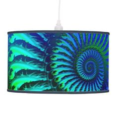 Psychedelic Fractal Blue Pattern Hanging Lamps | Fractal Art Gifts - http://www.photographybypixie.com/2015/02/03/psychedelic-fractal-blue-pattern-hanging-lamps-fractal-art-gifts/ #fractalart #fractal #art #gifts