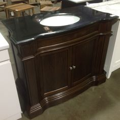 This Dark And Handsome Bathroom Vanity Cabinet Would Make A Great Feature In Your Heritage