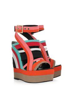 Sandalias de plataforma multicolor de Pierre Hardy en net-a-porter.com