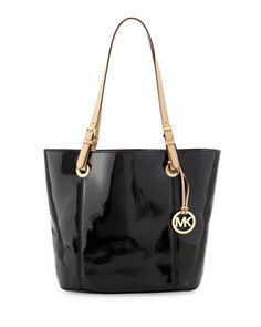 Large Patent Tote Bag, Black by Michael By Michael Kors at Neiman Marcus Last Call.