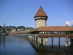 Luzerne.   This is an amazingly old bridge with fabulous medieval images.