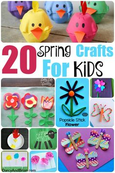 Don't miss our amazing list of 20 Spring Crafts For Kids! Ideal Spring break ide… Don't miss our amazing list of 20 Spring Crafts For Kids! Ideal Spring break ideas to keep kids happy and busy! Diy Gifts For Kids, Spring Crafts For Kids, Crafts For Kids To Make, Kids Crafts, Art For Kids, Spring Break For Kids, Easy Crafts For Toddlers, Painting Crafts For Kids, Spring Activities