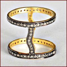 1.60 CT ROSE CUT UNCUT DIAMOND VICTORIAN VINTAGE ANTIQUE THUMB RING #Diamondring #Thumbring #Antiquethumbring #vintagering #Victorianring