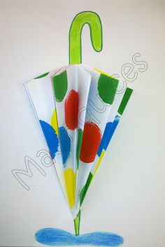 Umbrella crafts for preschool Kids Crafts, Rain Crafts, Toddler Crafts, Preschool Crafts, Autumn Crafts, Summer Crafts, Paper Art, Paper Crafts, Diy Paper