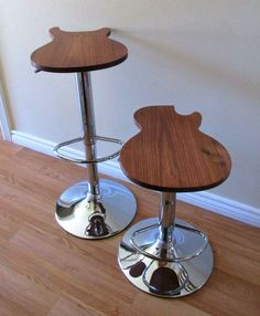 Handcrafted Musicians Guitar Stool by MGearDesign on Etsy, $120.00