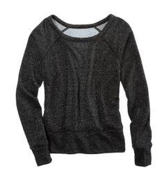 Aerie Chiffon Back Sparkle Sweatshirt
