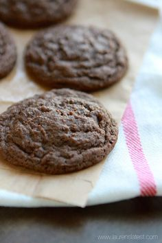 Chewy cocoa mocha cookies