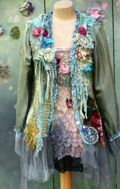 Last summer days jacket bohemian romantic jacket by FleursBoheme