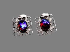 Dragons Breath Clip on Earrings Vintage by ItsNotAboutNeed on Etsy